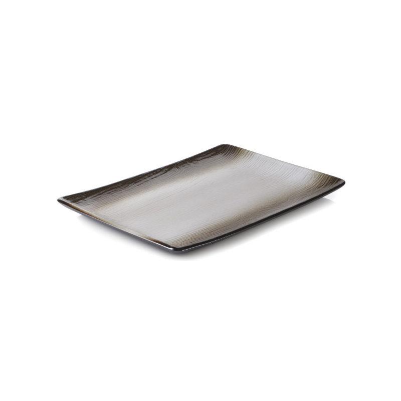 Talíř obdélníkový 32×23 cm - hnědý písek