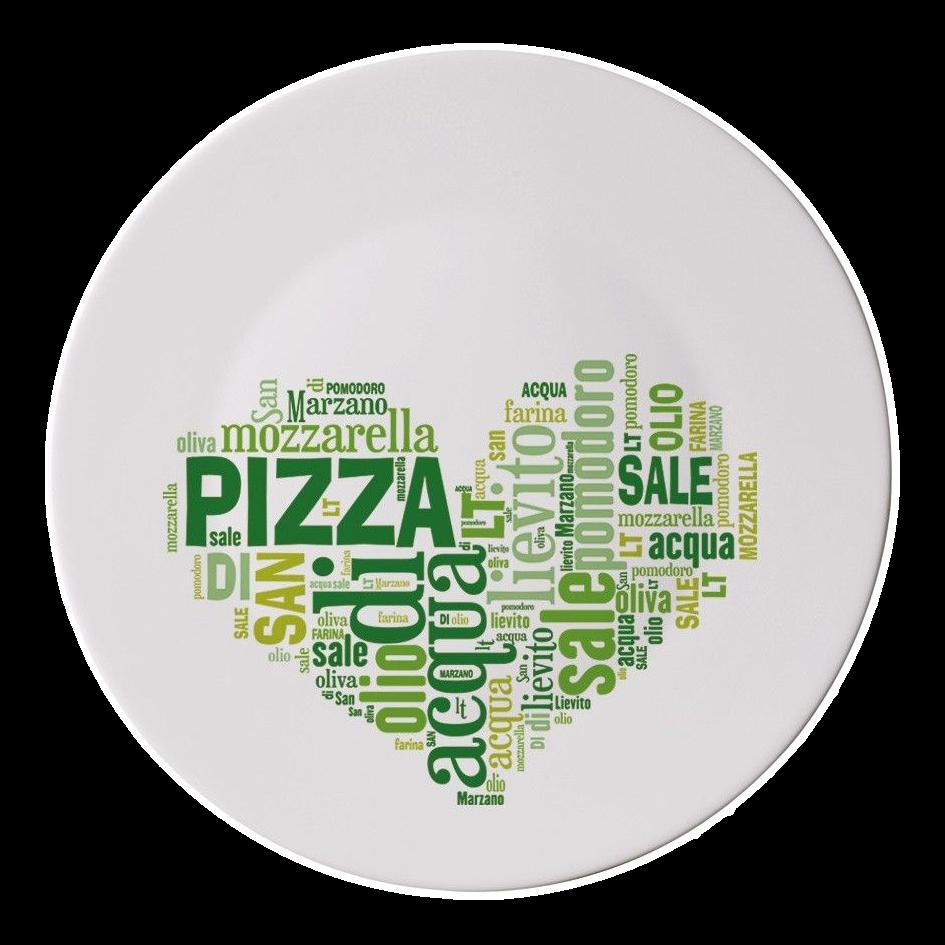 Talíř na pizzu srdce zelené 33 cm