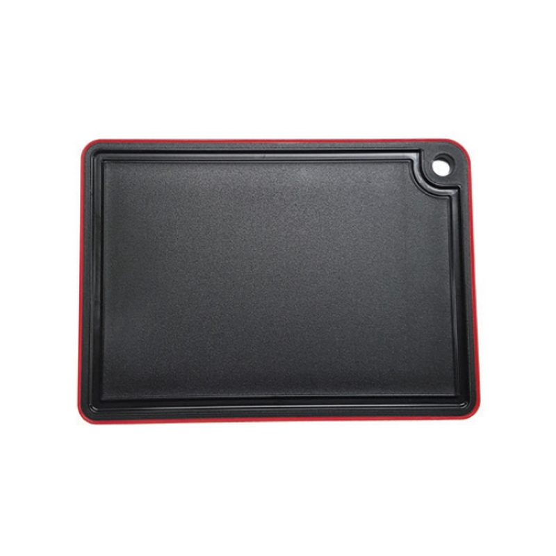 Deska krájecí černá - červená 35 x 25 x 10 cm