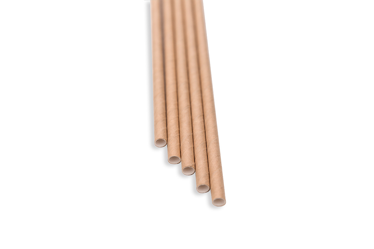 Brčka - natural papírová 100ks, délka 14 cm