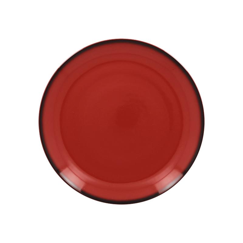 Talíř mělký kulatý 24 cm - červená