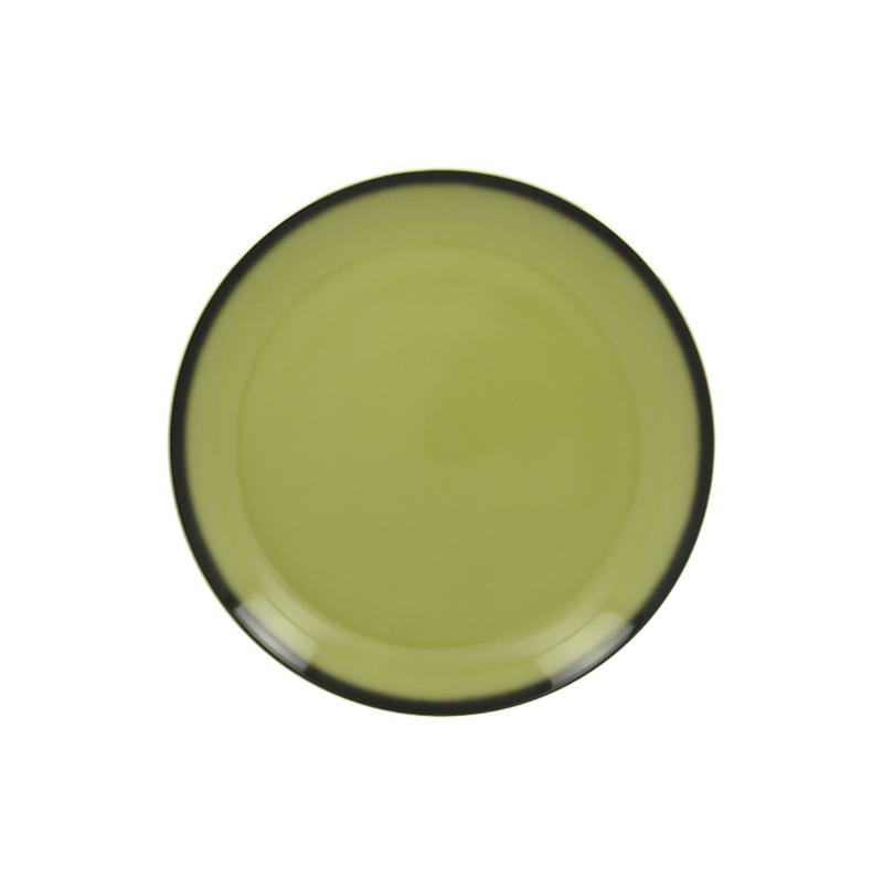 Talíř mělký kulatý 21 cm - zelená