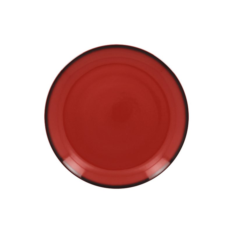 Talíř mělký kulatý 21 cm - červená