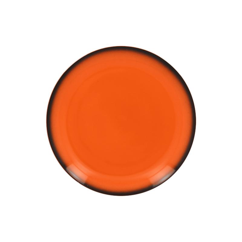 Talíř mělký kulatý 21 cm - oranžová