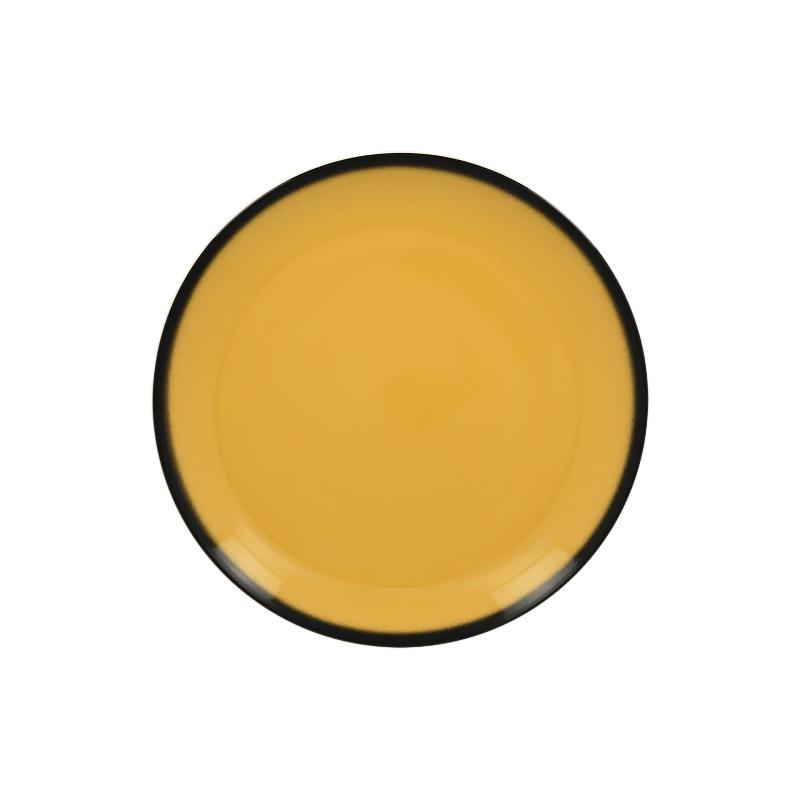 Talíř mělký kulatý 21 cm - žlutá