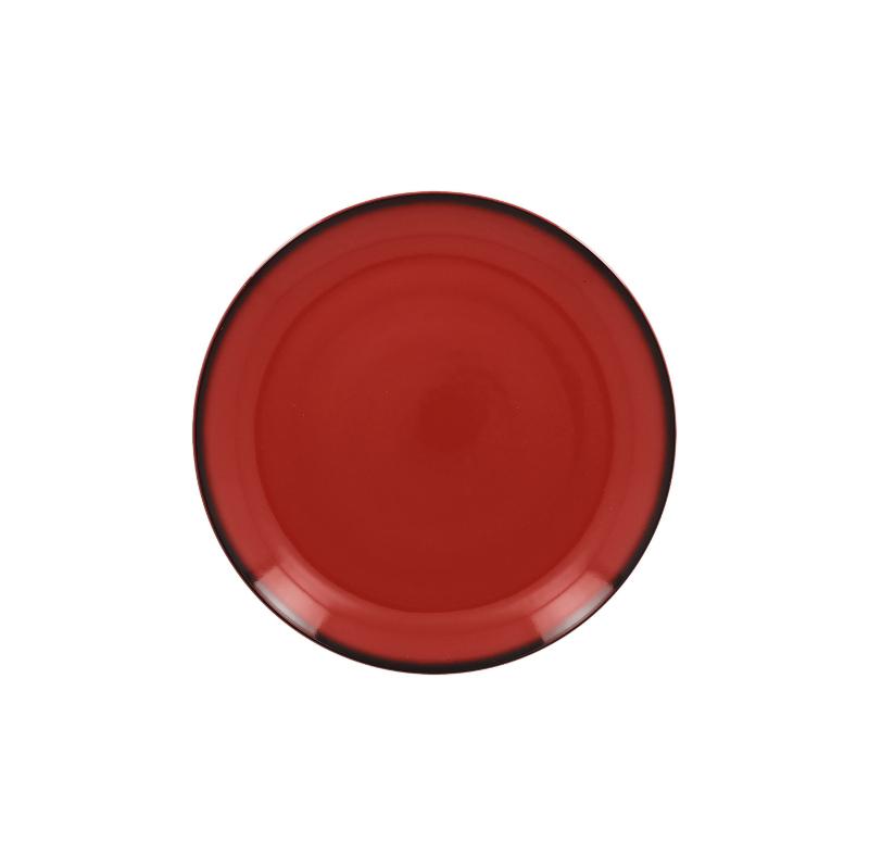 Lea Talíř mělký kulatý 18 cm - červená