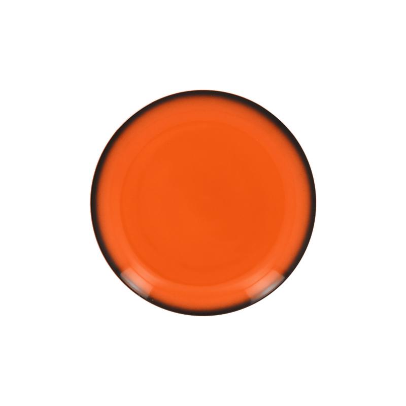 Lea Talíř mělký kulatý 18 cm - oranžová