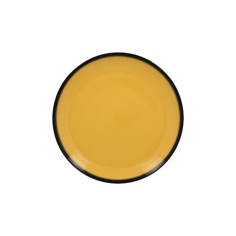 Lea Talíř mělký kulatý 18 cm - žlutá
