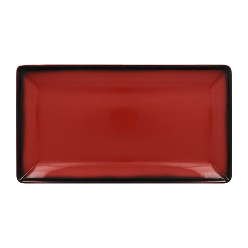 Talíř servírovací obdélný 33,5 cm x 18,1 cm - červená
