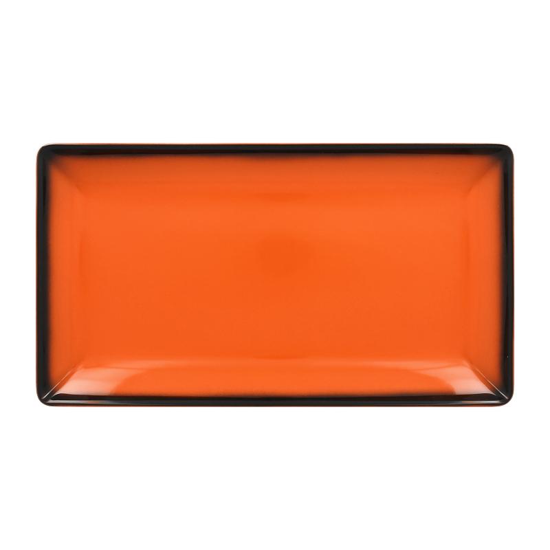 Talíř servírovací obdélný 33,5 cm x 18,1 cm - oranžová