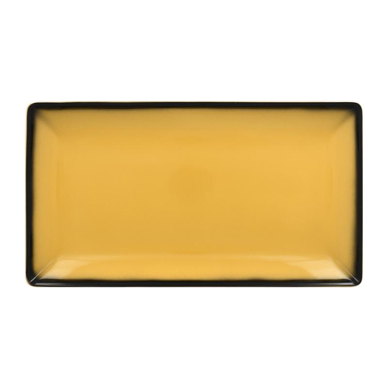 Talíř servírovací obdélný 33,5 cm x 18,1 cm - žlutá
