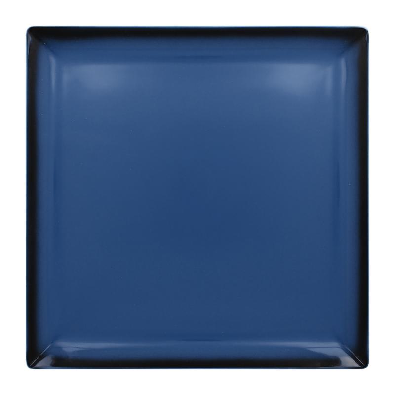 Talíř čtvercový 30,2 cm - modrá