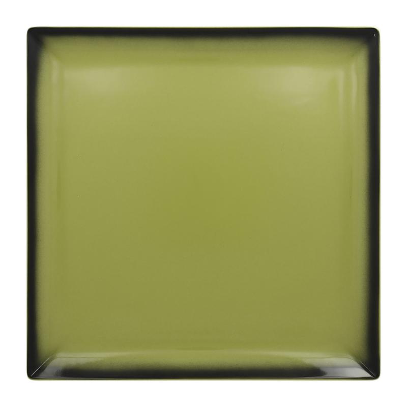 Talíř čtvercový 30,2 cm - zelená