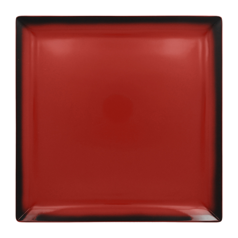 Talíř čtvercový 30,2 cm - červená