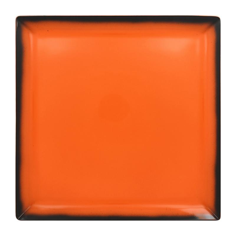 Talíř čtvercový 30,2 cm - oranžová