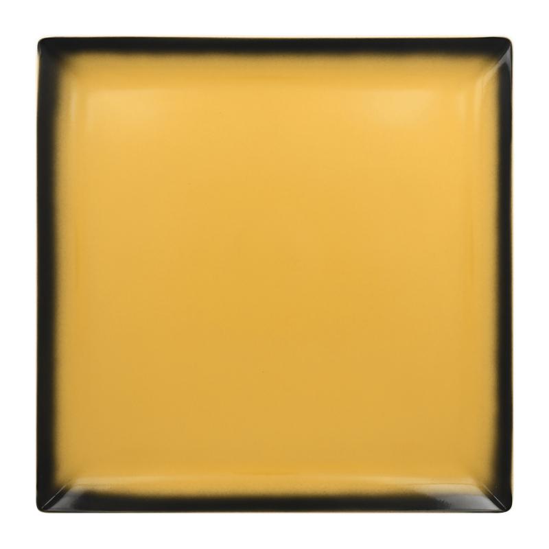 Talíř čtvercový 30,2 cm - žlutá