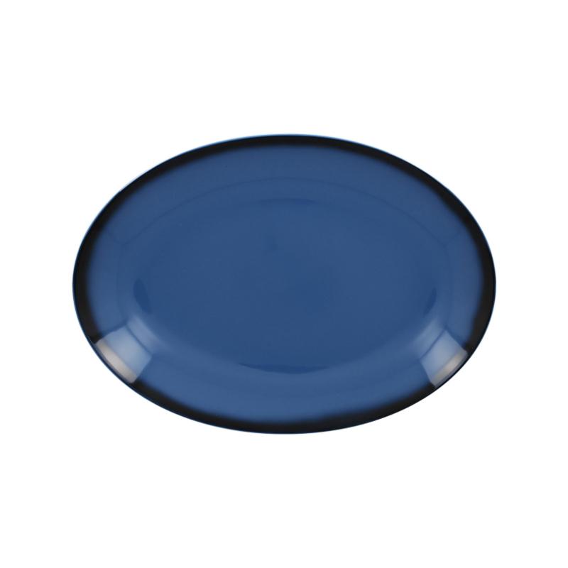 Lea talíř oválný modrý 26 x 19 cm