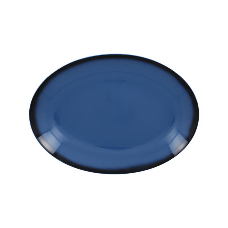 Talíř oválný 26 cm x 19 cm - modrá
