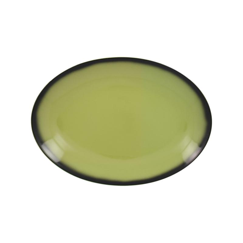 Lea talíř oválný světlezelený 26 x 19 cm