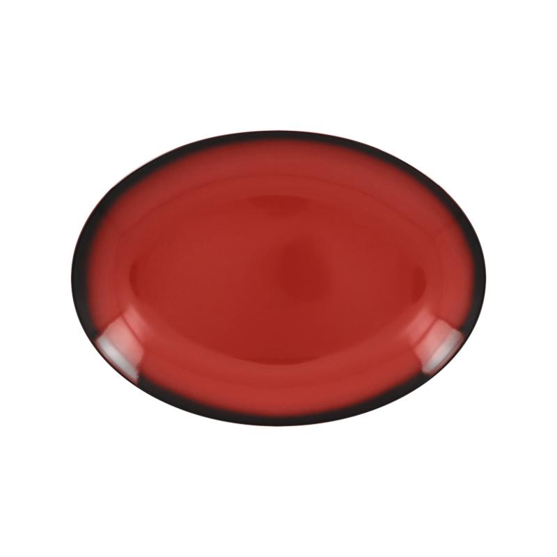 Talíř oválný 26 cm x 19 cm - červená
