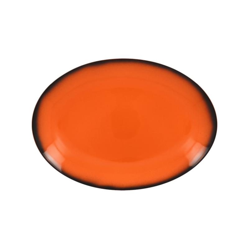 Lea talíř oválný oranžový 26 x 19 cm