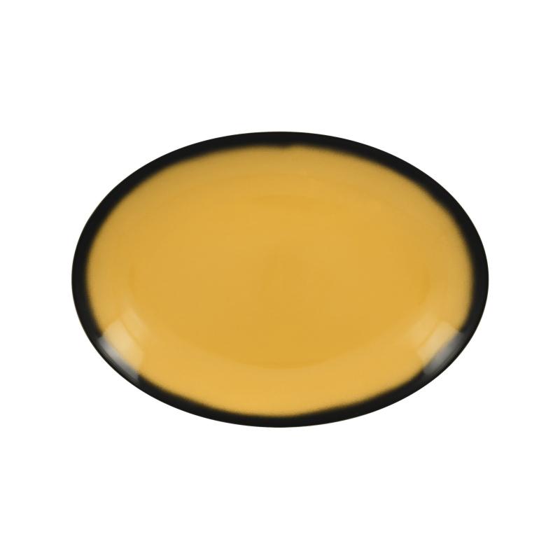 Lea talíř oválný žlutý 26 x 19 cm