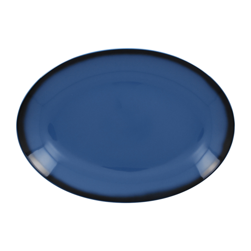 Talíř oválný 32 cm x 23 cm - modrá