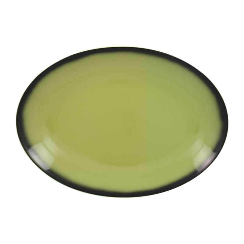 Talíř oválný 32 cm x 23 cm - zelená