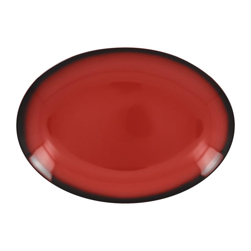 Talíř oválný 32 cm x 23 cm - červená