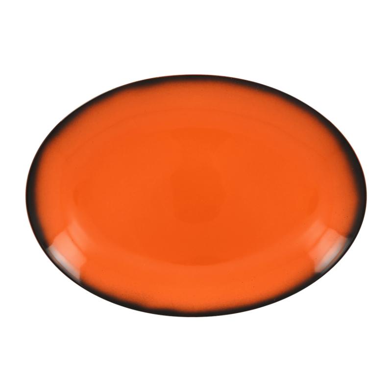 Talíř oválný 32 cm x 23 cm - oranžová
