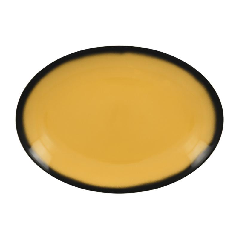 Talíř oválný 32 cm x 23 cm - žlutá