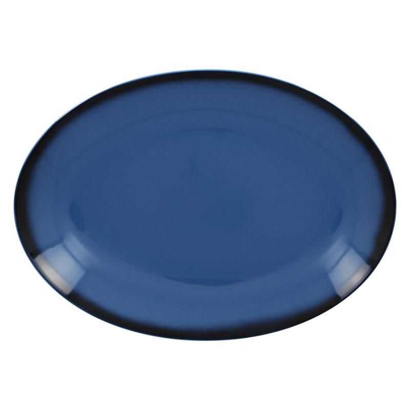 Talíř oválný 36 cm x 27 cm - modrá