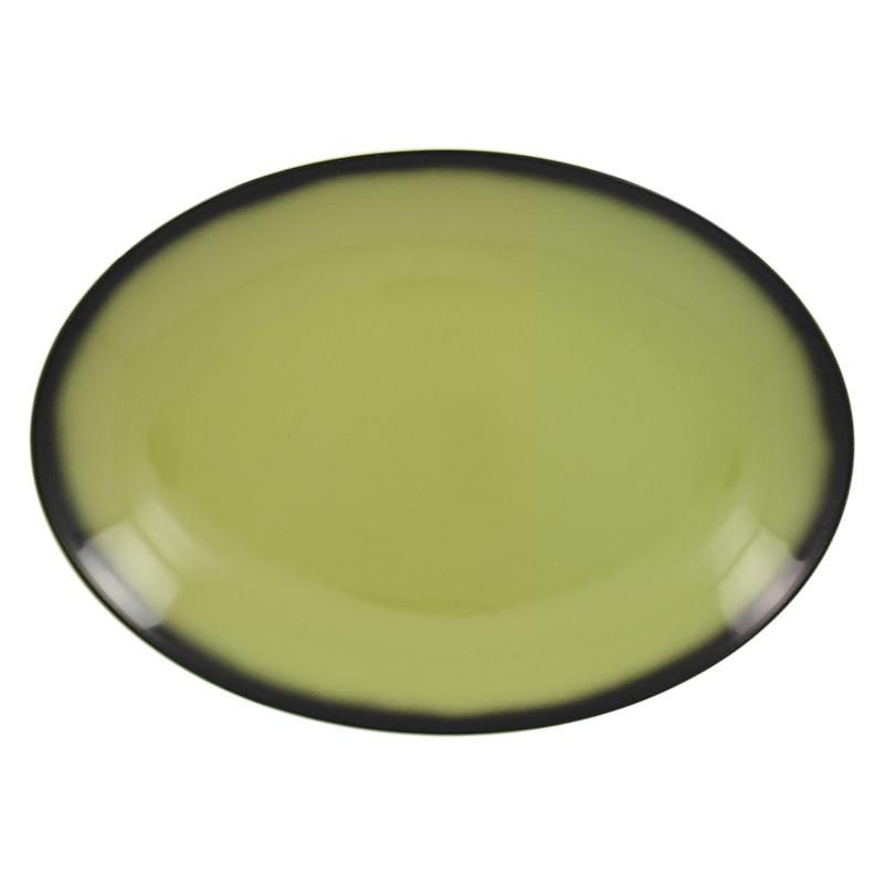 Talíř oválný 36 cm x 27 cm - zelená