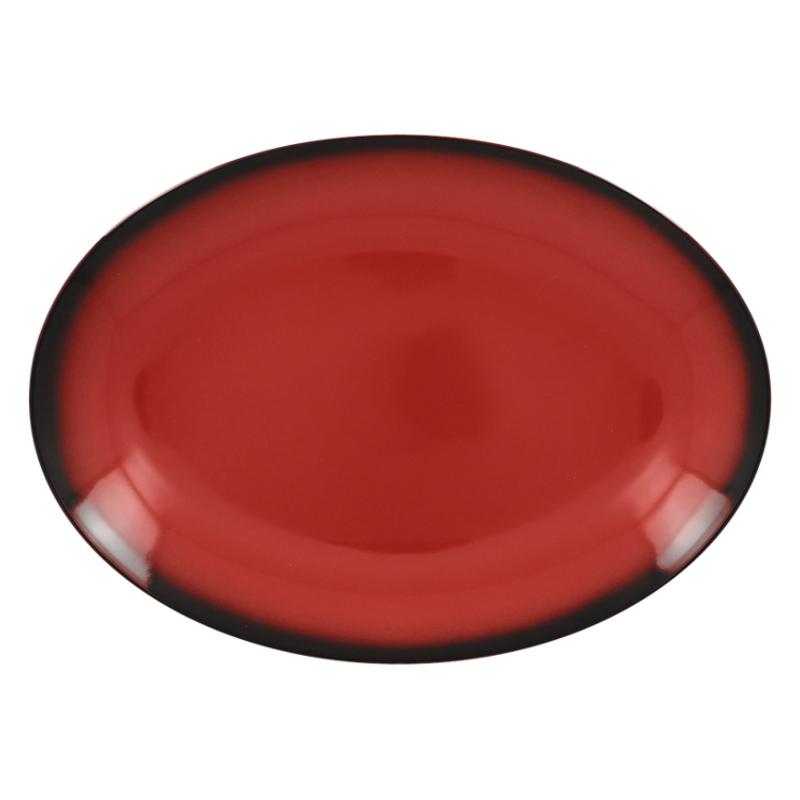 Talíř oválný 36 cm x 27 cm - červená