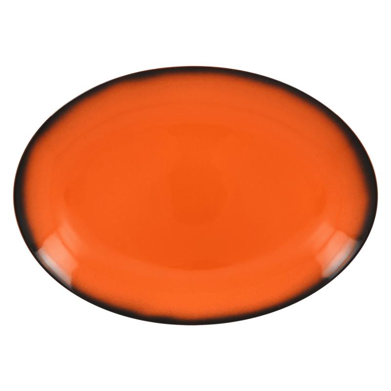 Talíř oválný 36 cm x 27 cm - oranžová