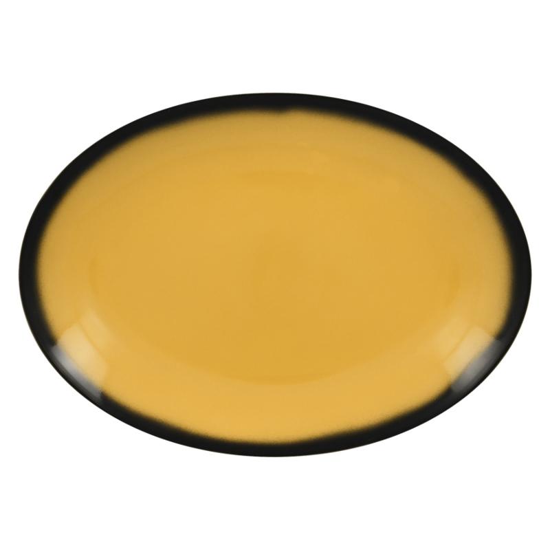 Talíř oválný 36 cm x 27 cm - žlutá