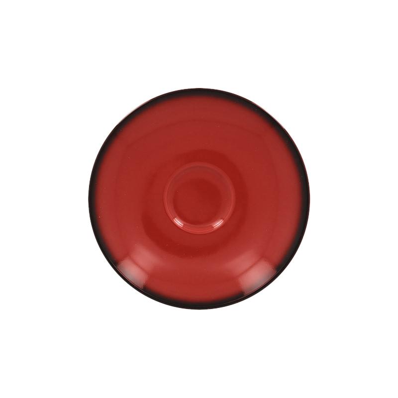 Podšálek kulatý 17 cm - červená