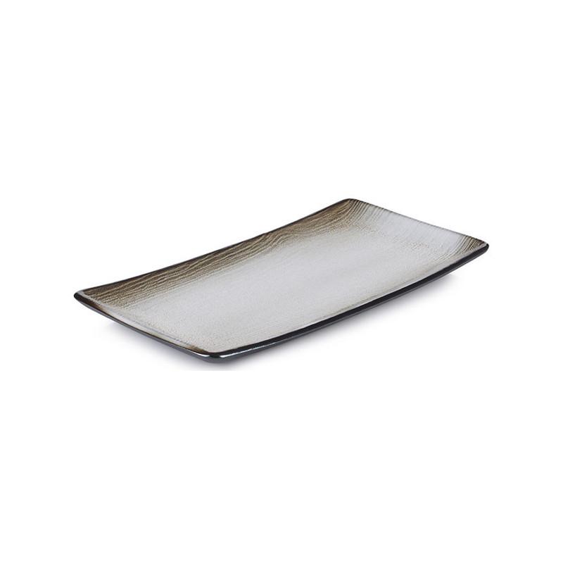 Talíř obdélníkový 30,2×15,3 cm - hnědý písek