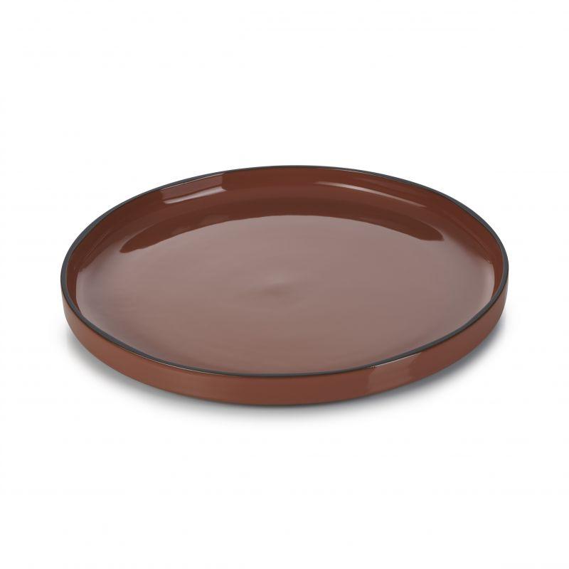 Talíř kulatý 28 cm - cinnamon