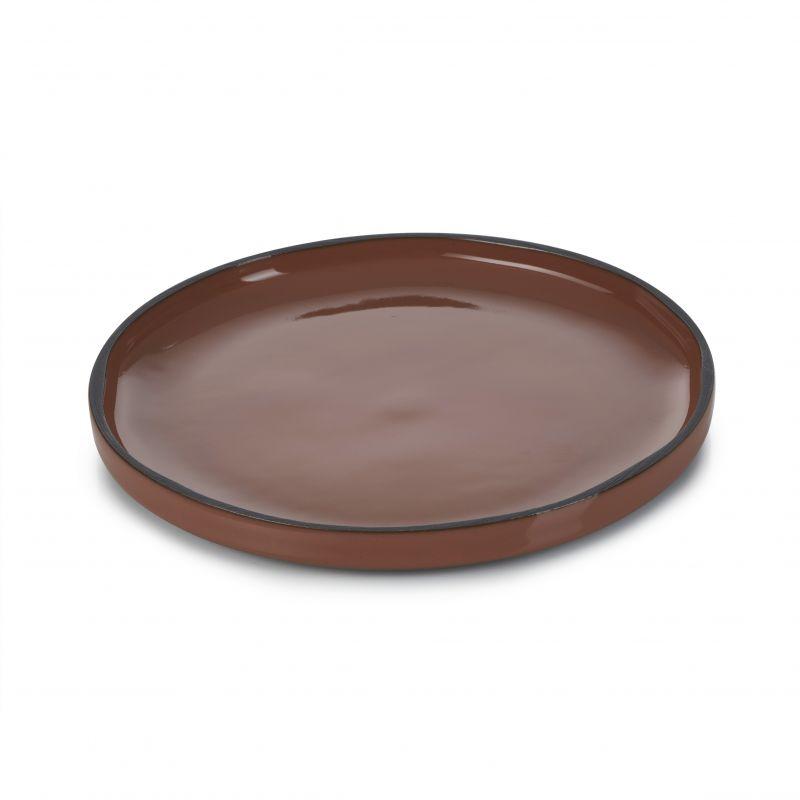 Talíř kulatý 15 cm - cinnamon