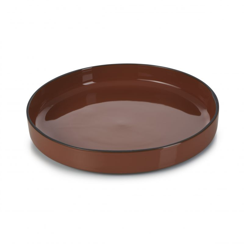 Talíř gourmet kulatý 23 cm - cinnamon