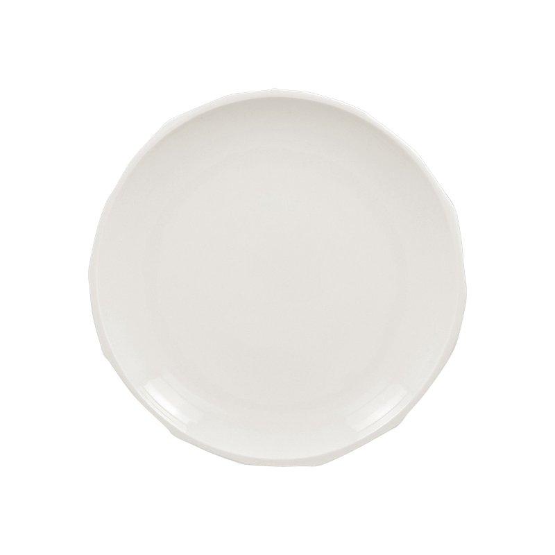 Talíř řezaný mělký 24 cm - bílá