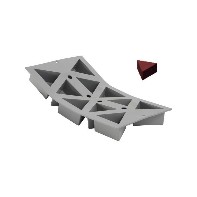 Silikonová forma - trojúhelník 6,6×5,7×3,5 cm