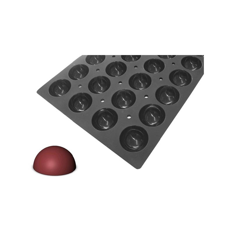 Silikonová forma - polokoule 7×3,5 cm