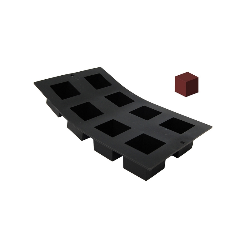 Silikonová forma - kostka 4,5×4,5 cm
