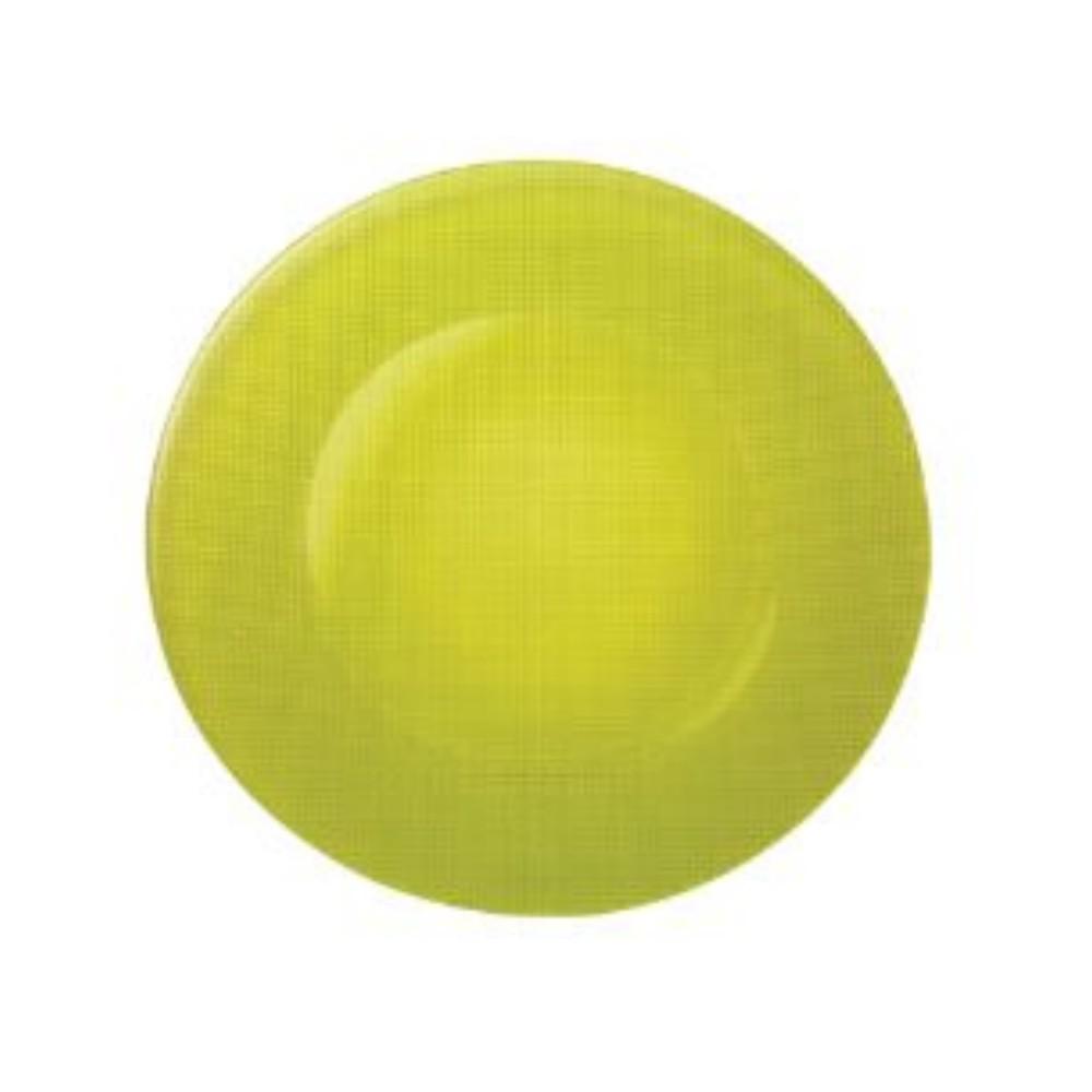 Talíř skleněný mělký pr. 31 cm - zelený