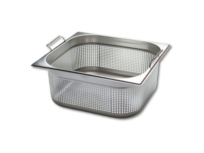 Gastronádoba Profi děrovaná s úchyty GN 1/2 040 mm