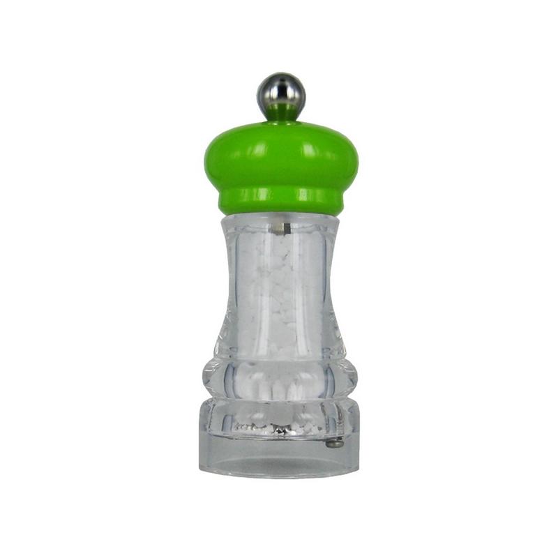 HIP HOP mlýnek na sůl transparentní zelený, 11cm