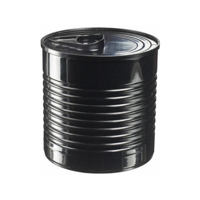 Plechovka černá XL s víčkem