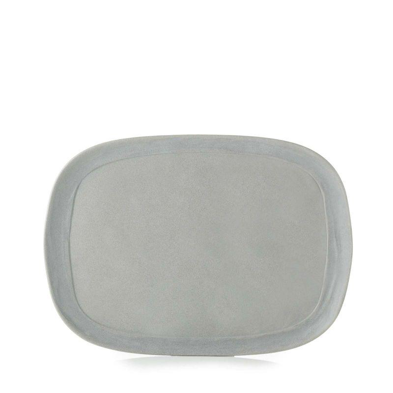 Talíř obdélný 33×24 cm - šedý